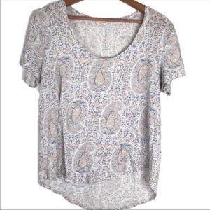 Lucky Brand Paisley T-shirt